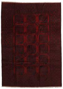 Afghan Teppe 201X280 Ekte Orientalsk Håndknyttet Mørk Brun/Mørk Rød (Ull, Afghanistan)