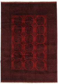 Afghan Teppe 199X281 Ekte Orientalsk Håndknyttet Mørk Rød (Ull, Afghanistan)