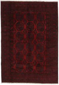 Afghan Teppe 199X282 Ekte Orientalsk Håndknyttet Mørk Rød (Ull, Afghanistan)