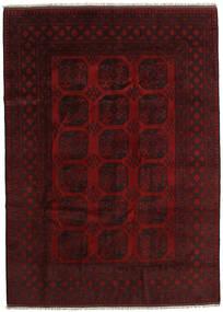 Afghan Teppe 204X284 Ekte Orientalsk Håndknyttet Mørk Rød (Ull, Afghanistan)