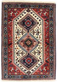 Yalameh Teppe 98X141 Ekte Orientalsk Håndknyttet Mørk Rød/Mørk Blå (Ull, Persia/Iran)