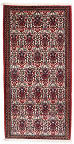 Abadeh Teppe 73X144 Ekte Orientalsk Håndknyttet Mørk Rød/Mørk Brun (Ull, Persia/Iran)