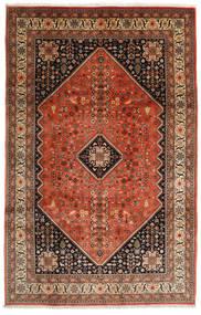 Abadeh Teppe 198X308 Ekte Orientalsk Håndknyttet Mørk Brun/Rød (Ull, Persia/Iran)