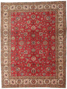 Tabriz Teppe 289X382 Ekte Orientalsk Håndknyttet Mørk Brun/Mørk Rød Stort (Ull, Persia/Iran)