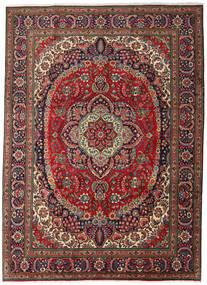 Tabriz Teppe 247X344 Ekte Orientalsk Håndknyttet Mørk Brun/Mørk Rød (Ull, Persia/Iran)