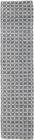 Elna - Grå Teppe 80X250 Ekte Moderne Håndvevd Teppeløpere Lys Grå/Lilla (Bomull, India)