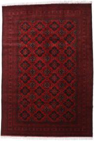 Afghan Khal Mohammadi Teppe 200X293 Ekte Orientalsk Håndknyttet Mørk Rød/Rød (Ull, Afghanistan)