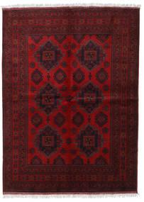 Afghan Khal Mohammadi Teppe 173X236 Ekte Orientalsk Håndknyttet Mørk Rød/Mørk Brun (Ull, Afghanistan)