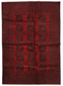 Afghan Teppe 202X285 Ekte Orientalsk Håndknyttet Mørk Rød/Rød (Ull, Afghanistan)