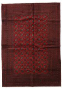 Afghan Teppe 202X283 Ekte Orientalsk Håndknyttet Mørk Rød (Ull, Afghanistan)