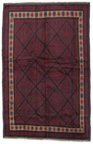 Beluch Teppe 150X235 Ekte Orientalsk Håndknyttet Mørk Rød/Svart (Ull, Afghanistan)