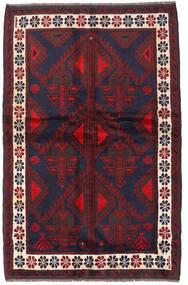 Beluch Teppe 140X220 Ekte Orientalsk Håndknyttet Mørk Rød/Mørk Lilla (Ull, Afghanistan)