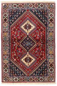 Yalameh Teppe 103X151 Ekte Orientalsk Håndknyttet Mørk Rød/Svart (Ull, Persia/Iran)