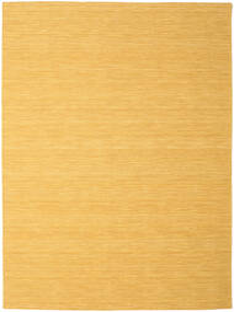 Kelim Loom - Gul Teppe 250X350 Ekte Moderne Håndvevd Lysbrun/Mørk Beige Stort (Ull, India)