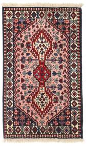 Yalameh Teppe 61X101 Ekte Orientalsk Håndknyttet Svart/Mørk Rød (Ull, Persia/Iran)