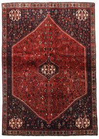Abadeh Teppe 124X176 Ekte Orientalsk Håndknyttet Mørk Rød/Mørk Brun (Ull, Persia/Iran)