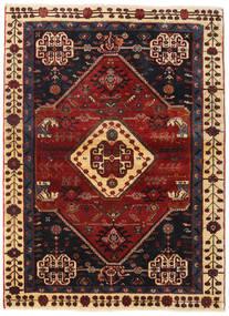 Ghashghai Teppe 108X148 Ekte Orientalsk Håndknyttet Mørk Rød/Svart (Ull, Persia/Iran)