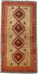 Ghashghai Teppe 114X228 Ekte Orientalsk Håndknyttet Mørk Rød/Lysbrun (Ull, Persia/Iran)
