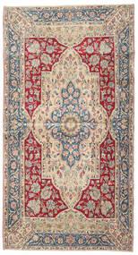 Kerman Patina Teppe 115X220 Ekte Orientalsk Håndknyttet Beige/Lys Grå (Ull, Persia/Iran)