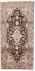 Kerman Teppe 95X190 Ekte Orientalsk Håndknyttet Lysbrun/Beige (Ull, Persia/Iran)
