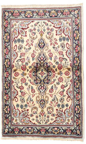 Kerman Teppe 90X140 Ekte Orientalsk Håndknyttet Beige/Mørk Grå (Ull, Persia/Iran)