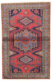 Wiss Teppe 93X155 Ekte Orientalsk Håndknyttet Mørk Lilla/Brun (Ull, Persia/Iran)