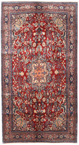 Bidjar Teppe 137X250 Ekte Orientalsk Håndknyttet Mørk Rød/Mørk Lilla (Ull, Persia/Iran)