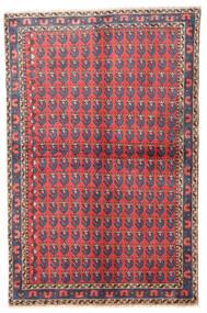 Wiss Teppe 100X155 Ekte Orientalsk Håndknyttet Mørk Grå/Rød (Ull, Persia/Iran)