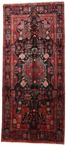 Nahavand Teppe 160X360 Ekte Orientalsk Håndknyttet Teppeløpere Mørk Rød/Svart (Ull, Persia/Iran)