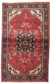 Heriz Teppe 87X145 Ekte Orientalsk Håndknyttet Mørk Rød/Mørk Brun (Ull, Persia/Iran)