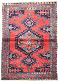 Wiss Teppe 110X155 Ekte Orientalsk Håndknyttet Mørk Lilla/Mørk Grå (Ull, Persia/Iran)