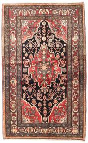 Hamadan Teppe 130X210 Ekte Orientalsk Håndknyttet Mørk Brun/Beige (Ull, Persia/Iran)