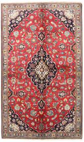 Keshan Teppe 145X240 Ekte Orientalsk Håndknyttet Mørk Rød/Mørk Grå (Ull, Persia/Iran)
