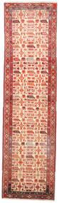 Heriz Teppe 88X325 Ekte Orientalsk Håndknyttet Teppeløpere Mørk Rød/Mørk Beige (Ull, Persia/Iran)