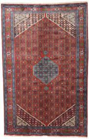 Zanjan Teppe 195X302 Ekte Orientalsk Håndknyttet Mørk Rød/Svart (Ull, Persia/Iran)