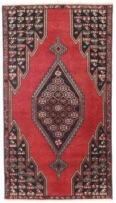Saveh Patina Teppe 98X176 Ekte Orientalsk Håndknyttet Svart/Mørk Rød (Ull, Persia/Iran)