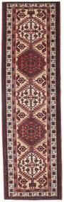 Sarab Patina Teppe 100X345 Ekte Orientalsk Håndknyttet Teppeløpere Mørk Brun/Mørk Rød (Ull, Persia/Iran)