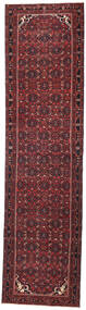 Hamadan Patina Teppe 105X410 Ekte Orientalsk Håndknyttet Teppeløpere Mørk Rød/Svart (Ull, Persia/Iran)