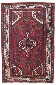 Hamadan Patina Teppe 100X153 Ekte Orientalsk Håndknyttet Mørk Lilla/Mørk Rød (Ull, Persia/Iran)