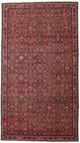 Hosseinabad Patina Teppe 163X290 Ekte Orientalsk Håndknyttet Teppeløpere Mørk Rød/Svart (Ull, Persia/Iran)