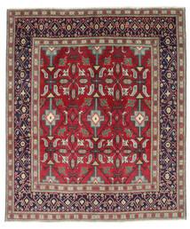 Tabriz Patina Teppe 195X232 Ekte Orientalsk Håndknyttet Mørk Lilla/Rød (Ull, Persia/Iran)