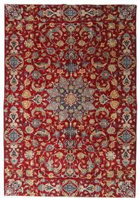 Najafabad Patina Teppe 220X317 Ekte Orientalsk Håndknyttet Mørk Rød/Mørk Brun (Ull, Persia/Iran)