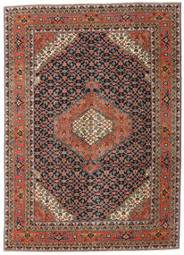 Ardebil Patina Teppe 208X290 Ekte Orientalsk Håndknyttet Mørk Grå/Mørk Rød (Ull, Persia/Iran)