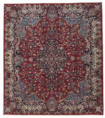 Mashad Patina Teppe 250X283 Ekte Orientalsk Håndknyttet Mørk Rød/Mørk Grå Stort (Ull, Persia/Iran)