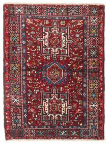 Heriz Teppe 106X140 Ekte Orientalsk Håndknyttet Mørk Rød/Svart (Ull, Persia/Iran)