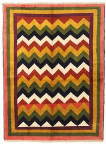 Gabbeh Kashkooli Teppe 132X180 Ekte Moderne Håndknyttet Mørk Grønn/Orange (Ull, Persia/Iran)