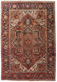 Heriz Teppe 195X285 Ekte Orientalsk Håndknyttet Mørk Brun/Mørk Rød (Ull, Persia/Iran)