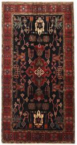 Heriz Teppe 155X300 Ekte Orientalsk Håndknyttet Teppeløpere Mørk Brun/Mørk Rød (Ull, Persia/Iran)