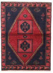 Klardasht Teppe 105X140 Ekte Orientalsk Håndknyttet Svart/Rød (Ull, Persia/Iran)