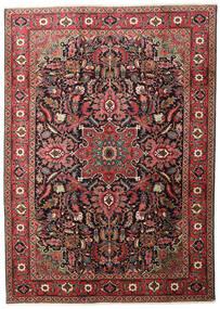 Heriz Teppe 205X290 Ekte Orientalsk Håndknyttet Mørk Rød/Svart (Ull, Persia/Iran)